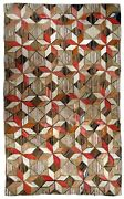 Handmade Antique American Hooked Rug 4.8and039 X 7.7and039 146cm X 234cm 1900s 1b654