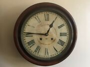 19th Century Antique And039ansoniaand039 Wall Clock School / Station Round 15 Inch
