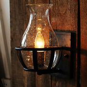 Industrial Retro Vintage Candle Style Wall Light Sconce Glass Wall Lamp Fixture