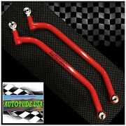 2016 Rzr Xp Turbo 2/4 Seat Chromoly Lower Arched Radius Bars Rods Red 10mm Hdwr