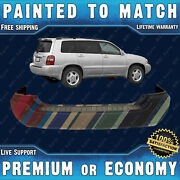 Painted To Match - Rear Bumper Cover Direct Fit For 2004-2007 Toyota Highlander