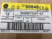 12 Ge Qh2m/t3/ht-gt 80848 Clear 240v Infrared Sleeve Leads Base Quartz Heat Lamp