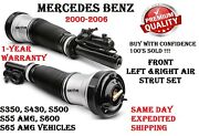 Mercedes 00-06 S350 S430 S500 S55 S600 Front Left And Right Air Strut Assembly Set
