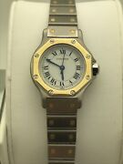 Ladies White Dial Two Tone Silver/gold Stainless Steel Bracelet Watch