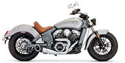 Freedom In00078 Turnout 2-into-1 Full Exhaust Chrome W/black Tips Indian Scout