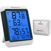 Thermopro Tp65 Digital Wireless Hygrometer Indoor Outdoor Thermometer Wireles...