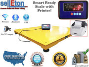Industrial Pallet Size 60 X 60 5and039 X 5and039 Floor Scale And Printer 2000 Lbs X .5 Lb