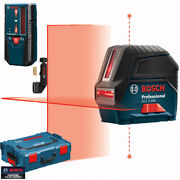 Bosch Gcl 2-160 + Lr 6 Self-leveling Cross-line Laser With Plumb Points L-boxx