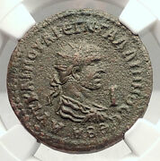 Gallienus 253ad Side Pamphylia Authentic Ancient Roman Coin Tyche Ngc I72916