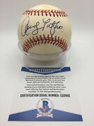 Andy Pafko Signed Autograph Omlb Official Nl White Baseball Bas Beckett C22662