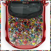 Stickerbomb Car Wrapping Special Jdm Sticker Bomb 3d Bubble-free Matte And Shiny
