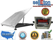 Ntep 48 X 48 4and039 Diamond Plate Lift-top Stainless Steel Floor Scales 5000 Lbs