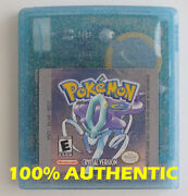 Original Authentic Pokemon Crystal Version Can Save New Battery Game Boy Color