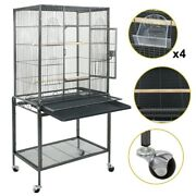 Large Parrot Bird Cage Bird Finch Feeder Stand Bird Lovers Play Top House 53