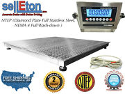 Ntep 48 X 48 4and039 X 4and039 Floor Scale Fixed Top Stainless Steel Washdown 2000 Lbs
