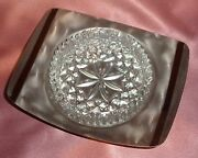 Vintage Glass And Silver Ware Lewbury Dish Bowl Estate Collectable