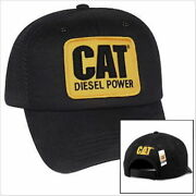 Caterpillar Diesel Power Cat Equipment Vintage Black Mesh Retro Style Cap Hat