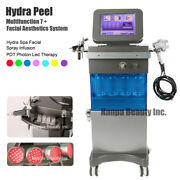 7 In 1 Hydra Dermabrasion Pdt Led Phton Hydra Spa Facial Spray Infusion Machine