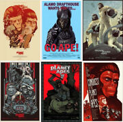 Planet Of The Apes - Complete Set Of 6 Prints - Rare Sold Out Mondo Print