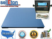 Heavy Duty Industrial Floor Scale 7andrsquo X 7andrsquo / 84andrdquo 20000 Lbs X 5 Lb And Lcd Display