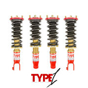 Function And Form For 88-91 Honda Civic Ef Type 1 Height Adjustable Coilover Kit