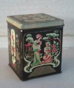 Vintage Collectible Oriental Asian Tin People Flowers And Trees 1990and039s