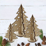 Christmas Bauble Tree Decoration - Wooden Welsh Laser Cut Xmas Display Standing