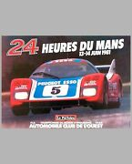 1981 - 24 Hours Of Le Mans Original 10and039 Billboard Poster