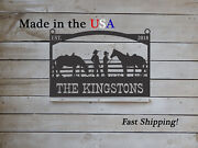 Farm Entrance/gate Sign Western Theme Personalized Est. Year S1301