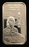 Space Shuttle Challenger Mission Vii 999 Silver Art Bar 1 Troy Oz Sm-17