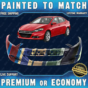 New Painted To Match Front Bumper Replacement For 2013 2014 2015 2016 Dodge Dart