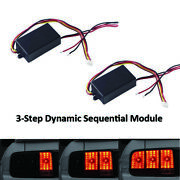 Pair 3-step Sequential Flow Semi Dynamic Chase Flash Tail Light Module Boxes