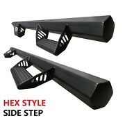 Hexagon Style Drop Step Nurf Bar Running Boards Fit10-16 Ford F-250 Sd Crew Cab