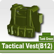 Tank Green B12 Tactical Vest For Lego Army Military Brick Minifigures