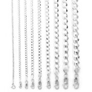 10k White Gold Solid Mens Womens 2mm-10mm Cuban Chain Pendant Necklace 16- 30