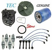 Tune Up Kit Cap Rotor Ngk Wires Spark Plug Fit Honda Prelude 1997-2001
