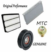 Tune Up Kit Cabin Air Filter And Idler Pulley Plug Fit Acura Rl 1996-2003