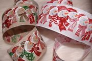 Christmas Wired Ribbon High Quality Happy Snowman Ideal For Gifts Crafts Lot