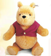 Steiff Winnie The Pooh Ean 651489 9 Mohair Pooh With Red Jacket 2000