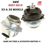 07-16 Bmw E70 E71 F15 F16 X5 And X6 Left And Right Engine Motor Mount Set Febi