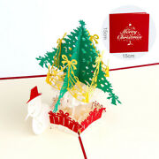 10pcs 3d Pop Up Card Christmas Greeting Cards With Snowman And Tree