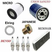 Tune Up Kit Air Cabin Filters Plugs Oil Drain Plug Fit Acura Rsx 2002-2006