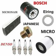 Tune Up Kit Micro Air Filters Denso Plugs Oil Drain Plug Fit Acura Rsx 2002-2006