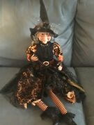 Skull And Bones Brand Halloween Witch Shelf Sitting Dangling Legs - New With Tags
