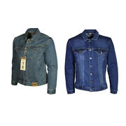 Menand039s Plus King Size Mens Blue Denim Jacket Long Sleeves Casual Jeans Coat
