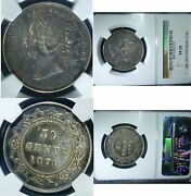 1873 Newfoundland Canada Fifty Cents Ngc Xf 45 Scarce Low Mintage Silver Coin