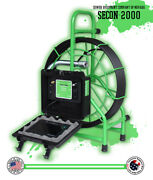 100' Usa Made Sewer Pipe Drain Inspection Camera 512hz Sonde Footage Counter