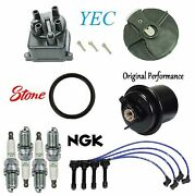 Tune Up Kit Fuel Filter Cap Rotor Wire Plugs Fit Honda Cr-v 2.0l B20b4 Eng 1998