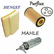 Tune Up Kit Air Fuel Oil Paper Filter Fit Mercedes-benz Ml430 1999-2001