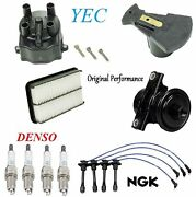 Tune Up Kit Filters Cap Rotor Wires And Plugs Fit Toyota Corolla 1.6l 1995 1997